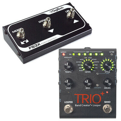 DigiTech Trio+ Plus Band Creator Looper Guitar Effects Pedal & FS3X Footswitch • 295.84£