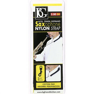BG Model S80SH Alto/Tenor/Soprano Saxophone Nylon Strap With Snap Hook • 12.73£