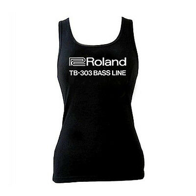 Roland TB-303 Bass Line Ladies Tank Top S - 2XL, Vintage Electronica Sexy Synth • 13.75£