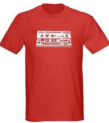 Roland TB-303 Bass Synth Mens Red T Shirt, S - 5XL, Vintage Electronica Hip Hop • 13.18£