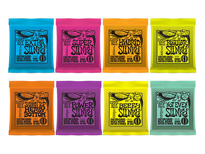 Ernie Ball Slinky Electric Guitar Strings -  All Gauges - Quantity Discounts • 7.29£