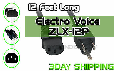 New 12Ft Electro Voice ZLX-12P Replacement AC Power Cord Cable • 15.45£