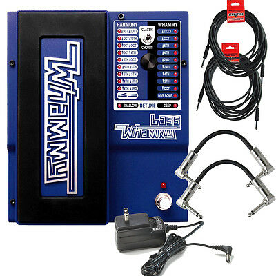 Digitech Bass Whammy Guitar Pitch Effect Pedal + Power Supply + Patch Cables • 173.65£