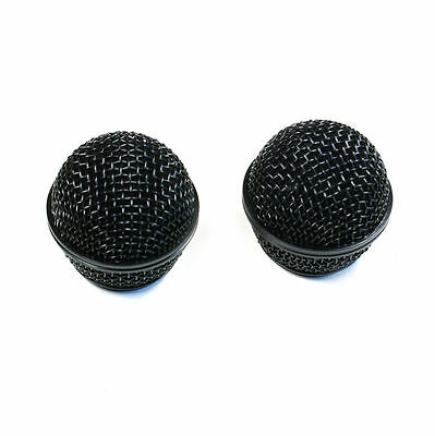 2 Black Ball Head Microphone Grille Replacement For Shure Beta58 Beta58A Mic • 8.99£