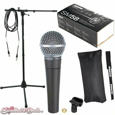 Shure SM58 Vocal Dynamic Live And Recording Microphone SM58-LC Bundle • 122.99£