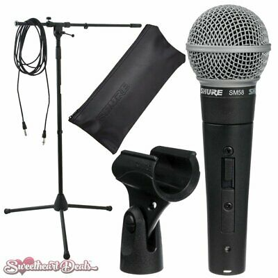 Shure SM58s Microphone With Switch Vocal Dynamic Live And Recording Mic SM58 • 115.62£