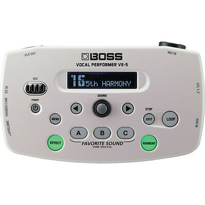 BOSS VE-5 Vocal Performer Mobile Mountable Live Effects Processor Looper White • 230.83£