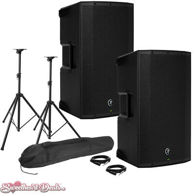 Pair Of Mackie Thump12A 1300W 12  Class-D Powered PA Loudspeakers - Live Bundle • 583.60£