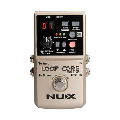 Nux Loop Core Deluxe Looper True Buffer Bypass Guitar Effects Pedal Stompbox • 108.53£
