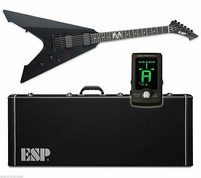 ESP LTD James Hetfield Vulture Black Satin BLKS NEW Electric Guitar + GOGO TUNER • 986.89£