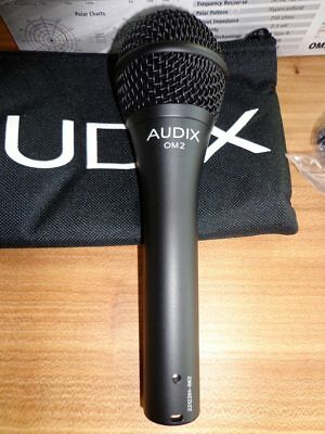 AUDIX OM2 Professional Vocal Microphone, Hyper-Cardioid Dynamic, New • 46.61£