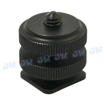 Hot Shoe Mount To 1/4  Shoe Adapter For Zoom HS-1 H4n H2n Q2HD Q3HD • 7.99£
