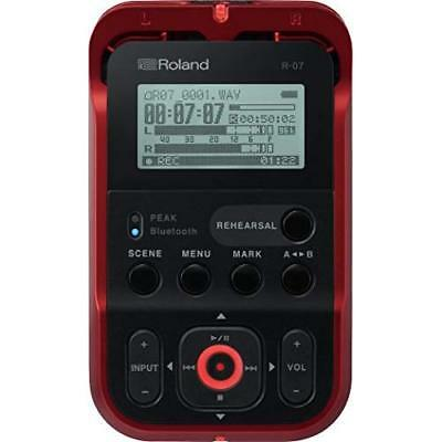 Roland R-07 RD Red Handy Portable Recorder Digital Audio Linear PCM NEW Japan • 198.35£