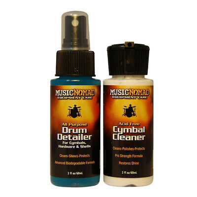 Music Nomad MN117 Drum Detailer And Cymbal Cleaner Combo Pack, 2 Oz. • 6.89£