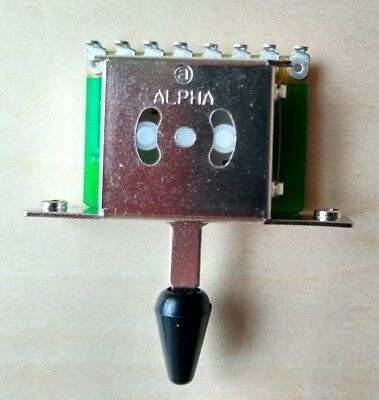 ALPHA 5 Way Import Switch For Fender Stratocaster / Squier Strat • 6.99£