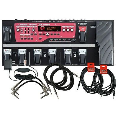 Boss RC 300 Loop Station Looper Pedal Board W/ 6 Cables • 559.35£
