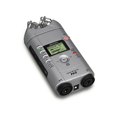 Zoom H4 Handy Recorder Multi 4 Track Microphone 1gb & Power Supply H2 H4n Pro H5 • 119.95£