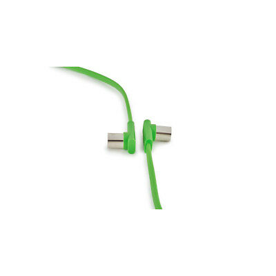 RockBoard Flat MIDI Patch Cable, 12 Inches, Green, Right-Angle to Right-Angle