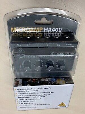 Behringer HA400 Microamp 4 Channel Stereo Headphone Amplifier BRAND NEW  • 34.50£