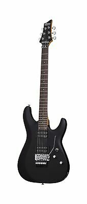 Schecter C-6 FR DELUXE Satin Black Solid-Body Electric Guitar, Satin Black SBK • 333.94£