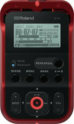 Roland Hi-Res Audio Recorder R-07-RD Red Linear PCM Recorder Japan New • 185.62£