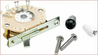 Genuine Fender 5-Way Selector Switch For Stratocaster Guitar Incudes Two Tips  • 15.50£
