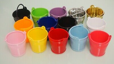 Small Mini Micro Beach Sand Plastic Pails Buckets Party Favors Gifts Candy Box • 9.67£