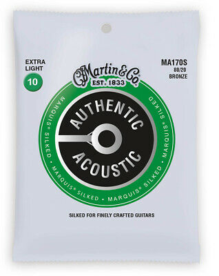 Martin Authentic Acoustic Marquis Silked Bronze Extra Light Guitar Strings