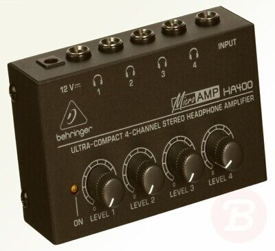 Behringer HA400 Microamp 4 Channel Stereo Headphone Amplifier • 24.75£