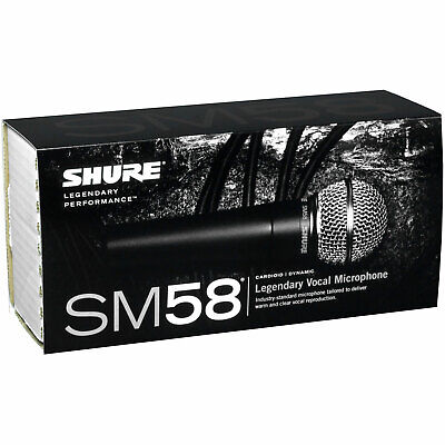 *BRAND NEW* Shure Legendary Performance SM58S Legendary Vocal Microphone Dynamic • 75.25£