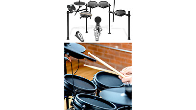 Alesis Drums Nitro Mesh Kit | Eight Piece All Mesh Electronic Drum Kit With S... • 390.11£