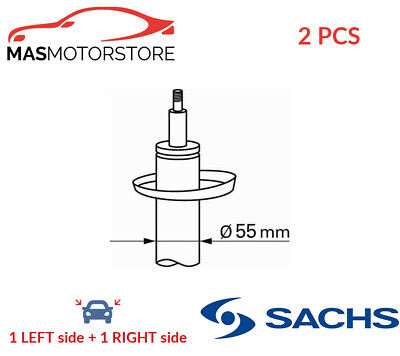 2x 313 053 SACHS FRONT SHOCK ABSORBER SET SHOCKERS G NEW OE REPLACEMENT • 133.95£
