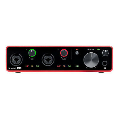 Focusrite Scarlett 4i4 Compact USB Audio & Recording Interface - 3rd Gen • 199£