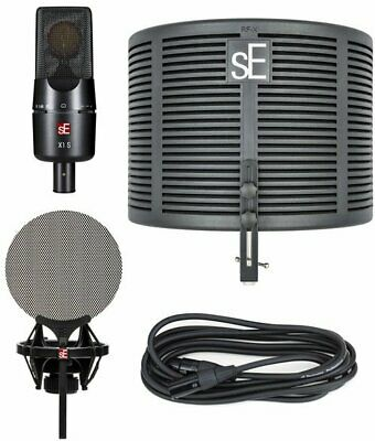 SE Electronics X1 S Microphone & RF X Portable Vocal Booth Studio Bundle • 194.38£