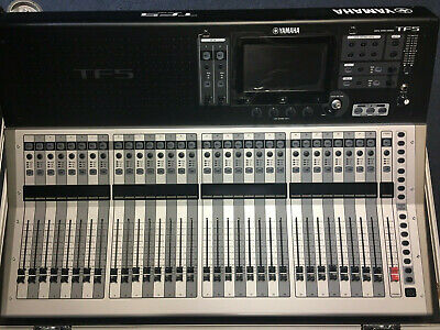 YAMAHA TF5 32-Channel Digital Mixer W/ Dante NY64-D Card, ATA Case.- *USED Once* • 2,500.48£