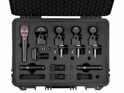 sE Electronics V Pack Arena 7 Drum Microphone Kit w/ Pair of sE8 and Case