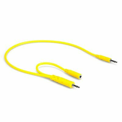 Hosa CMM-545Y 5-Pack 18  Hopscotch 1/8  TS & TSF Pigtail To 1/8  TS Patch Cables • 19.85£