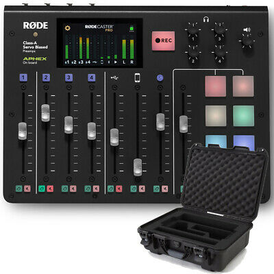 Rode RodeCaster RØDECaster Pro Podcast Mixer Interface w/ Gator Titan 2 Case