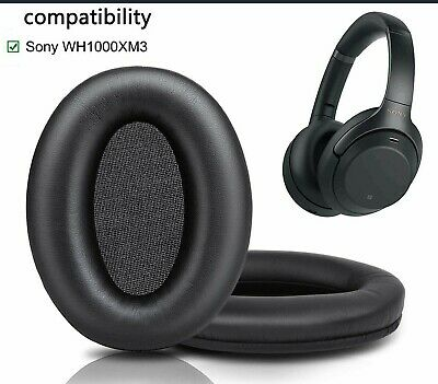 Leather Ear Pads Covers For Sony Wh-1000xm1 Wh-1000xm2 Wh-1000xm3 Headphones UK • 14.95£