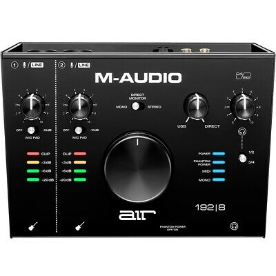 M-Audio Air 192|8 2-In/4-Out 24/192 Audio Recording USB MIDI Interface • 164.16£
