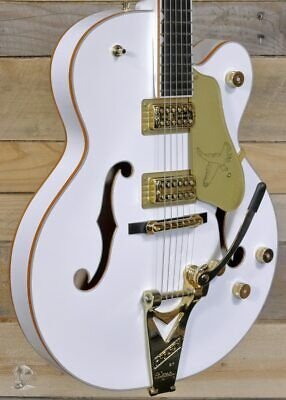 Gretsch G6136T-WHT Players Edition Falcon Hollow Body Guitar White W/ String-Thr • 2,725.53£
