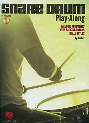 Snare Drum Play-Along Melodic Rudiments With Backing Tracks Drum BkCd Book  C • 11.12£