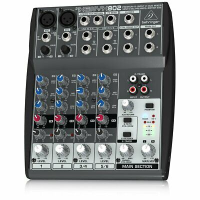Mixer Clearance Studio Podcast Mixing Desk Cheap Sale Behringer XENYX 802 • 149.99£