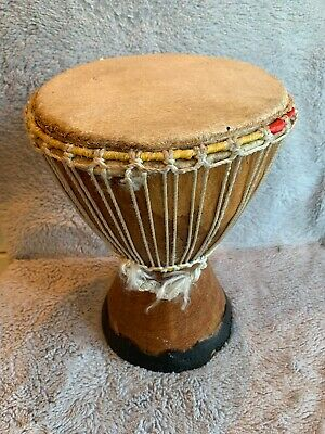 African Djembe Drum Hand Carved, Charming Handmade Design • 18.95£