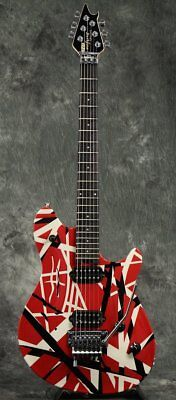 EVH Wolfgang Special Ebony Fingerboard Red Black White Stripes Free Shipping • 2,090.22£