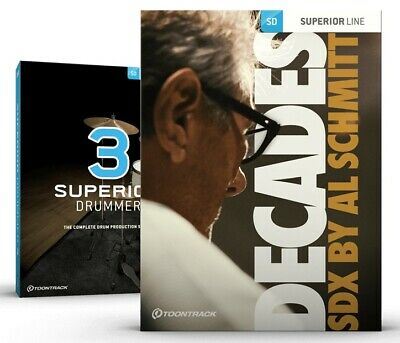 Toontrack Superior Drummer Decades Edition - Genuine SD3+SDX - Digital Delivery • 396.93£
