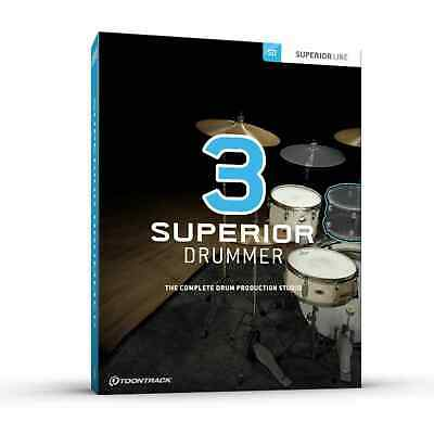 Toontrack Superior Drummer 3 Genuine License Serial - Digital Delivery - Mac &PC • 301.66£