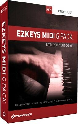 Toontrack EZKeys MIDI 6 Pack Custom Bundle - Serial Licenses - Digital Delivery • 100.85£