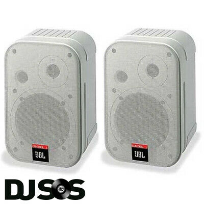 PAIR JBL Control 1 Pro Compact Install Speakers White DJ PA HIFI Studio 70W RMS • 119.95£