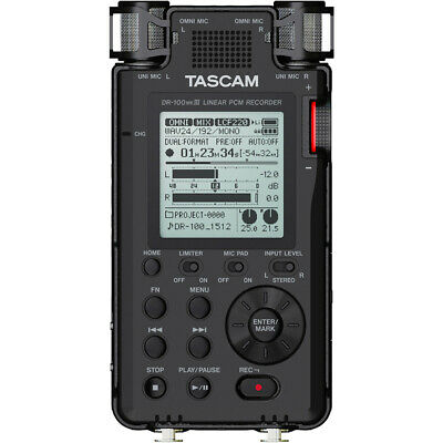 Tascam DR-100MKIII Handheld Portable Stereo Linear PCM Field Recorder (B-STOCK)